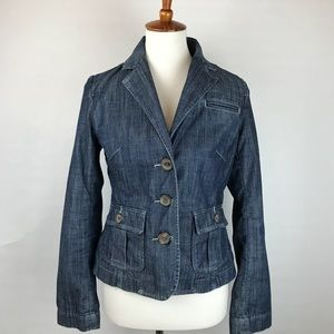 BANANA REPUBLIC size 6 denim jean blazer jacket!